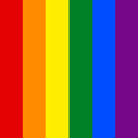 LGBT rainbow awareness colors are red,orange, yellow, green, blue, purple.