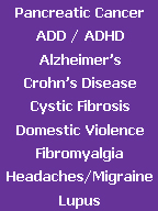 Click here to find purple awareness jewelry for Pancreatic Cancer, ADD, ADHD, Alzheimer's, Crohn's Disease, Cystic Fibrosis, Domestic Violence, Fibromyalgia and Lupus.