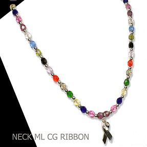 Necklace representing all cancers and causes.